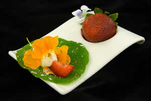 Edible Nasturtium and Strawberry